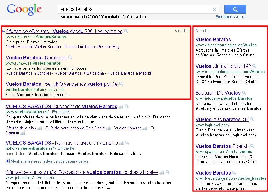 Publicidad mediante Google Adwords