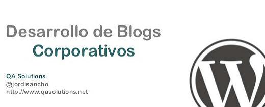 Desarrollo de Blogs Corporativos