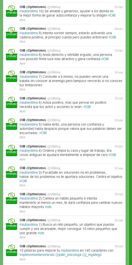 Series de tweets