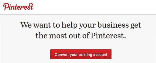 Nuevas cuentas Pinterest para empresas