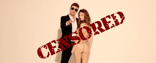 Youtube, Robin Thicke, tetas y censura