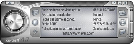 Interface usuario Avast