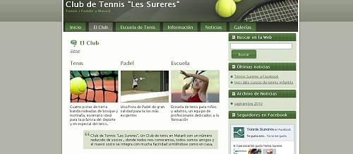 """Nueva imagen para la Web del Club de Tennis """"Les Sureres"""""""