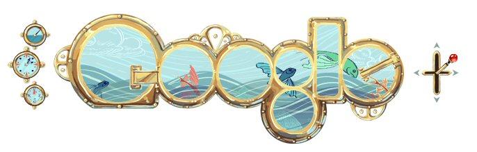 Doodle aniversario Julio Verne