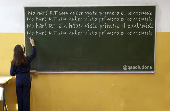 Retweets indiscrimados, No gracias!